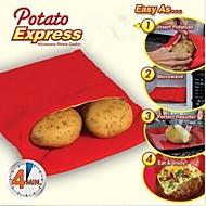 nuovo facile veloce patata rossa borsa microonde lavabile pocket vapore pratico patata cuoce di alta qualità in 4 minuti