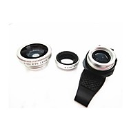 Universal 3-in-1 180° Fisheye  Wide Angle Macro Lens  for iPhone and Others(Assorted Color)