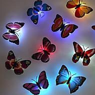 5pcs de alta qualidade biônico bateria botão borboleta uma luz noturna (cor aleatória)