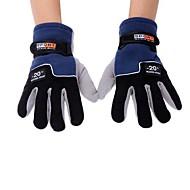 Full-finger Gloves / Winter Gloves Men's Keep Warm Ski & Snowboard / Cycling/Bike Blue Wool