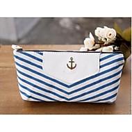 marine stijl strepen pen etui cosmetische make-up tas opbergzakje portemonnee portemonnee blauw