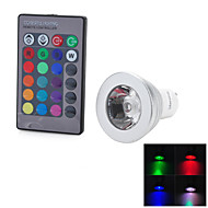 Marsing GU10 3 W 1 COB 100-200 LM Color-Changing Remote-Controlled Spot Lights AC 100-240 V