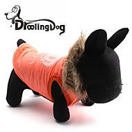 DroolingDog® Big Crown Pattern Cotton-Padded Hoodies Vest for Pets Dogs (Orange Assorted Sizes)