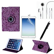 PU nahka koko kehon tapauksessa kosketuskynällä ja suojakalvo 2 kpl ja kuulokkeet iPad ilma 2 / iPad 6