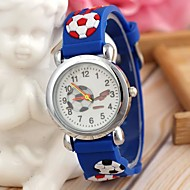 Children's Sports Style Football Silicone Strap Quartz Wrist Watch Blue (1Pc) Cool Watches Unique Watches Fashion Watch