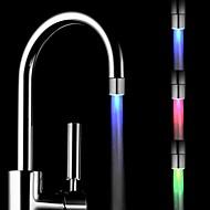 RC-F901 Mini Stylish Water Stream Temperature Sensor Luminous LED Light Faucet Light (Plastic, Chrome Finish)
