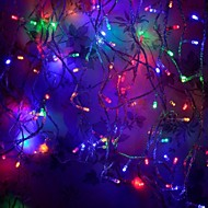 8 Modes 10M 100 LED String Fairy Multicolor Light Wedding Christmas Party Holiday(Multicolor with Tail Plug)