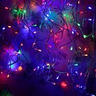 8 moduser 10m 100 ledet streng fairy flerfarget lys bryllup julebord ferie (flerfarget med halen plugg)