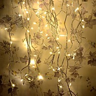 8 Modes 10M 100 LED String Fairy Warm White Light Wedding Christmas Party Holiday(Warm White with Tail Plug)