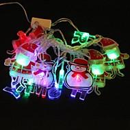 lampe de lumière de bande de lumière rgb père clausr 5m 4.8W noël éclair 20-conduit (plug UE, ca 110-220V)