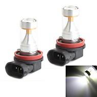 HJ H11 30W 2600LM 6000-6500K 6x2835 SMD LEDs White Light Bulb for Car Fog Light (12-24V,2 Piece)