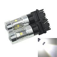 2x 3157  P27 W2.5X16Q  30W 6xCREE Cold White 2100LM 6500K for Car Turn Signal Light (AC/DC12V-24)