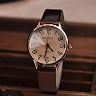 Women's Watch Vintage Big Numbers Quartz PU Band(Assorted Colors)