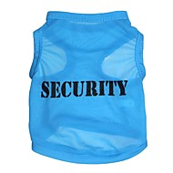 "Lovely ""SECURITY"" Pattern Terylene Vest for Dogs (Assorted Sizes)"
