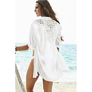 női divat szilárd sifon üreges horgolt swimwer bikini strand eltussolni nap megelőzési póló