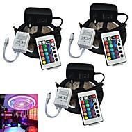 télécommande jiawen® 3pcs 5m 300x3528 cms rgb bande LED et 24key et 2a eu alimentation (AC110-240V)