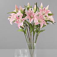 1 Tak Kunststof Lelies Bloemen voor op tafel Kunstbloemen 15 x 15 x 70(5.91'' x 5.91'' x 27.56'')