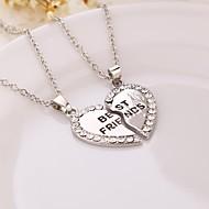 Naisten Riipus-kaulakorut Heart Shape Metalliseos Friendship Alkuperäinen korut pukukorut Korut Käyttötarkoitus Syntymäpäivä Päivittäin