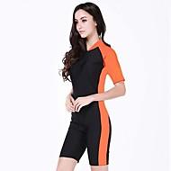 multi-color de la mujer traje de buceo deportivo de protección solar nylon traje de baño
