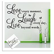 Wall Stickers Vægoverføringsbilleder, levende kærlighed engelske ord&citerer pvc wall stickers