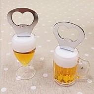 øl oplukker, rustfrit stål 5 × 4 × 9 cm (2,0 × 1,6 × 3,5 tommer) tilfældig art