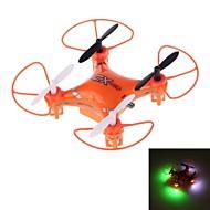 X023 mini drone 2.4ghz a 5 canali a 6 assi r / c quadcopter con giroscopio e led luminoso (arancione)