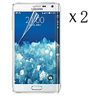[2-pack] υψηλή διαφάνεια LCD κρύσταλλο διαφανές προστατευτικό οθόνης με πανάκι καθαρισμού για το Samsung Galaxy Σημείωση n9150 άκρη