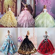 6 PCs poupée Barbie robe de soirée de luxe Princesse charmante