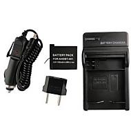 ahdbt 401 1160mah kamera batteri + eu plugg + billaddare för GoPro 4 kamera ahdbt 401