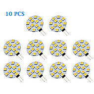 1.5W G4 LED Spotlight 12 SMD 5050 70 lm Warm White / Cool White AC 12 V 10 pcs