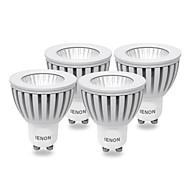 3W GU10 LEDスポットライト MR16 COB 240-270 lm 温白色 AC 100-240 V 4個