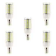 15W E14 Żarówka dekoracyjna LED 69 SMD 5730 1500 lm Naturalna biel AC 220-240 V 5 sztuk