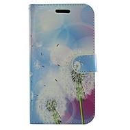 Mert Samsung Galaxy tok Kártyatartó / Állvánnyal / Flip / Minta Case Teljes védelem Case Pitypang Műbőr Samsung Gio