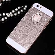 caso sólido Bling luxo brilho tampa com furo de volta para o iPhone 5 / 5s (cores sortidas)