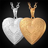Damen Anhängerketten Medaillons Halsketten Kupfer vergoldet Modisch Golden Schmuck Alltag Normal 1 Stück