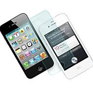 0.33mm herdet glass skjermbeskytter med mikrofiberklut for iPhone 4 / 4S