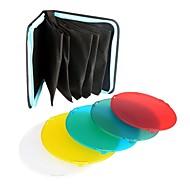 Nicefoto sn-518 5 couleurs filtre de gel jeu flash de studio stroboscope réflecteur standard