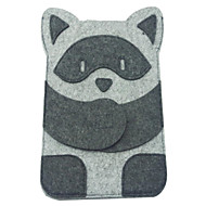 Mini Super Thin Cute Cartoon Racoon Style Felt Fabric Pouch for iPad mini 3, iPad mini 2, iPad mini