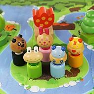 benho bjørk skogdyre blokker av tre utdanning leketøy