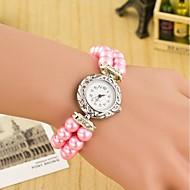 Damskie Modny Zegarek na nadgarstek Zegarek na bransoletce Kwarcowy Skóra Pasmo Perły Wielokoloroe