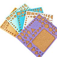 메이크업 관상 주름을 달기 종이 DIY 공예 미술 장식 템플릿 (임의의 색상, 21x18cm)