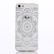 Para Funda iPhone 5 Ultrafina / Transparente / Diseños Funda Cubierta Trasera Funda Mandala Suave TPU iPhone SE/5s/5