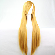 The New Anime  Yellow Long Straight Hair Wig 80CM