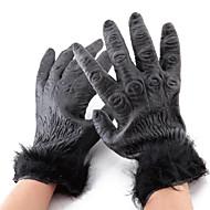orangs-outans en peluche gants noirs esquive de colle pour Halloween (2 pièces)