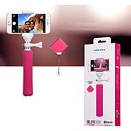 smartphone trådlöst bluetooth självutlösare + fjärr enbent attraktiva utdrag montera stången (blandade färger)