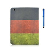 9.7 Inch Flag Pattern PU Leather with Stand Case and Pen for iPad Air /iPad 5