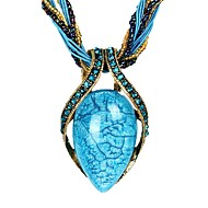 The new retro fashion retro bohemian crystal opal necklace