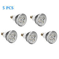 5 pcs E14 12 W 0 LM Warm White / Cool White Spot Lights AC 220-240 V