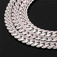 Herr Dam Par Chokerhalsband Kedje Halsband Tappning Halsband Cirkel Form Platina Pläterad Guldpläterad Guldfylld Legering Mode kostym