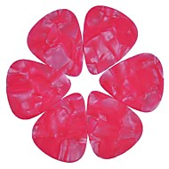 medium 0.71mm gitar plukker plectrums celluloid perle rosa 100stk-pack